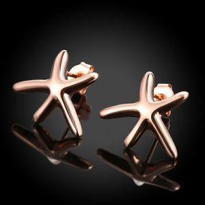 Jewelry - SUPER CUTE 18K Rose Gold-Filled Starfish Studs